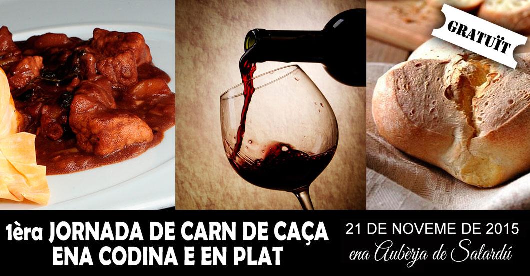 """El próximo 21 de Noviembre, te esperamos en la """"1ª Jornada de Carn de Caça ena Codina e en Plat"""", inscripción gratuita, plazas limitadas"""