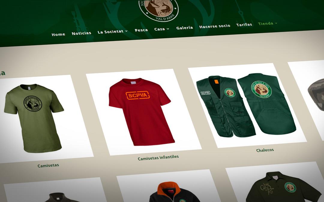 La Societat de Caça e Pesca Val d'Aran inaugura la venta online de merchandising