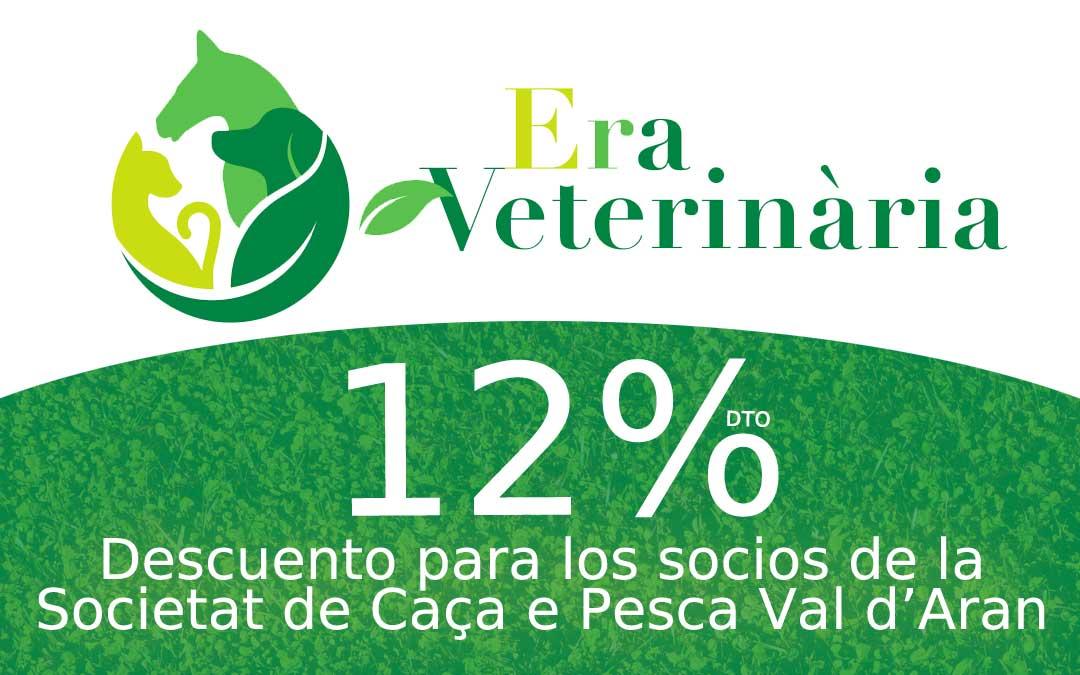 La Societat de Caça e Pesca dera Val d'Aran llega a un acuerdo con Era Veterinaria, para que los socios tengan un 12% de descuento