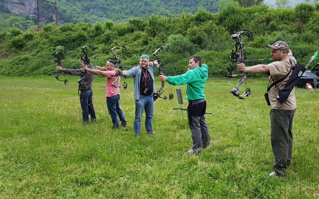 Jornada de tiro con arco en Cierp Gaud