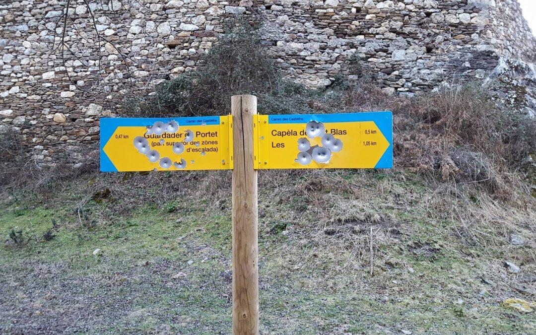 La Societat de Caça e Pesca condena los actos vandálicos, sucedidos en el municipio de Les