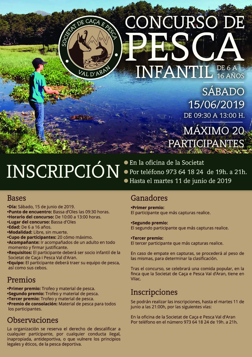 CONCURSO DE PESCA INFANTIL 2019